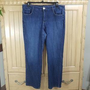 Bandolino Caroline Straight Leg Jeans, sz 16